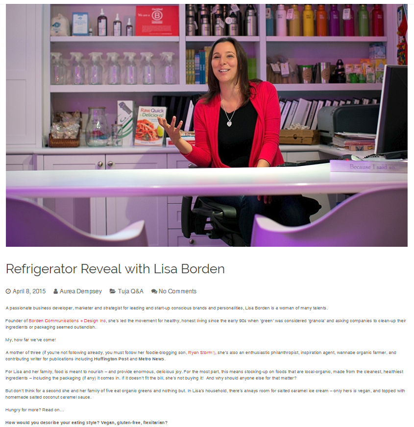 Refrigerator Reveal with Lisa Borden, Tuja Wellness