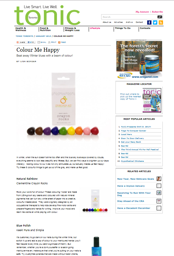 Colour Me Happy, Tonic