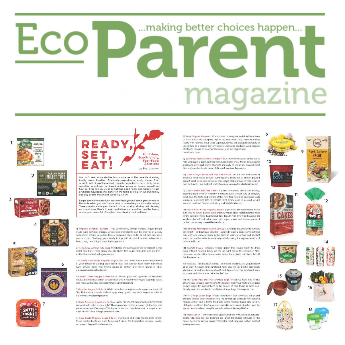 Ready, Set, Eat! EcoParent Magazine
