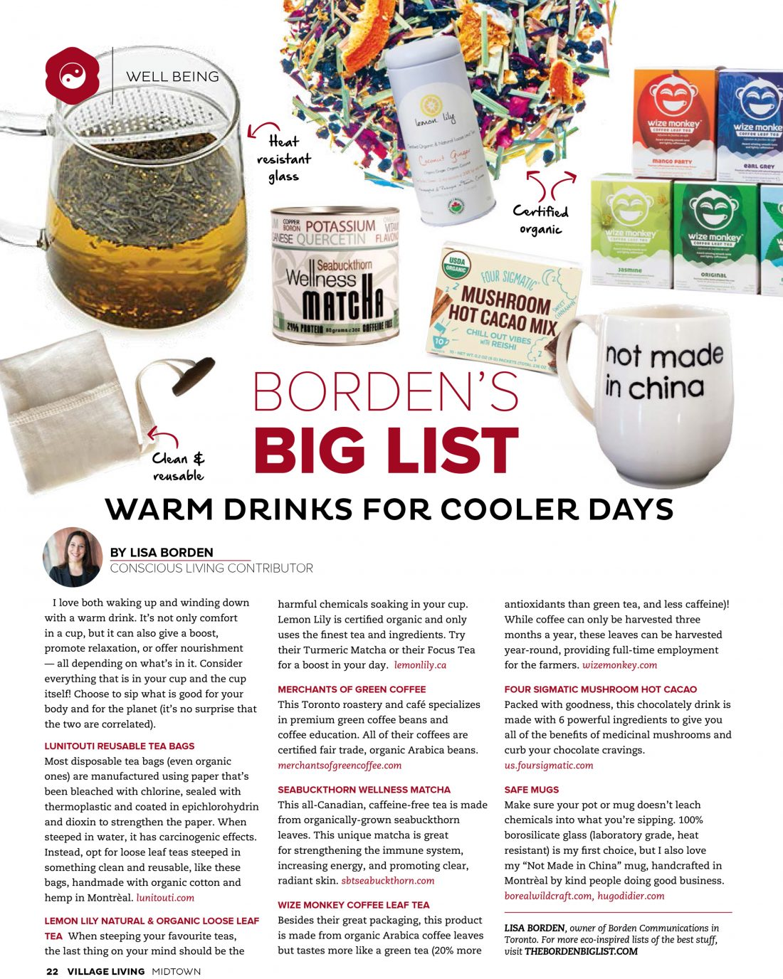 Warm Drinks for Cooler Days, Village Living Magazine