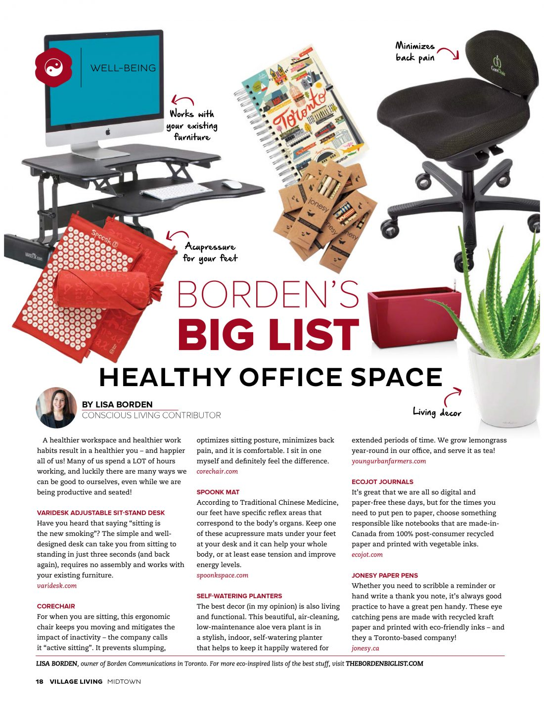 Healthy Office Space, Village Living Magazine