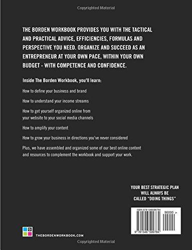 The Borden Workbook back of book