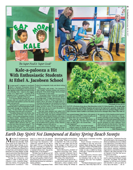 Kale-a-palooza a Hit with Enthusiastic Students