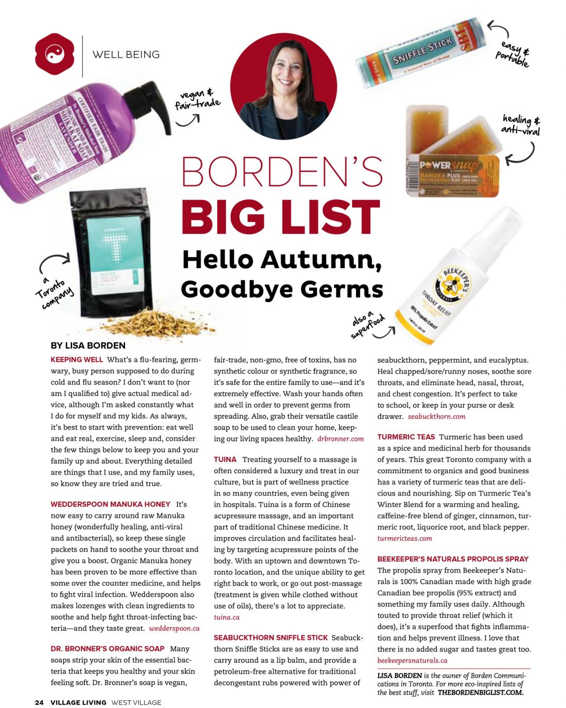 Hello Autumn, Goodbye Germs, Village Living Magazine