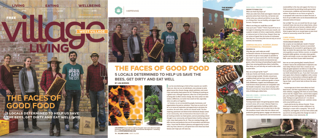 The Faces Of Good Food, Village Living Magazine