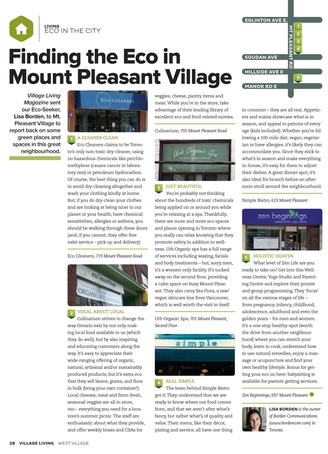 Finding the Eco in Mount Pleasant Village, Village Living Magazine
