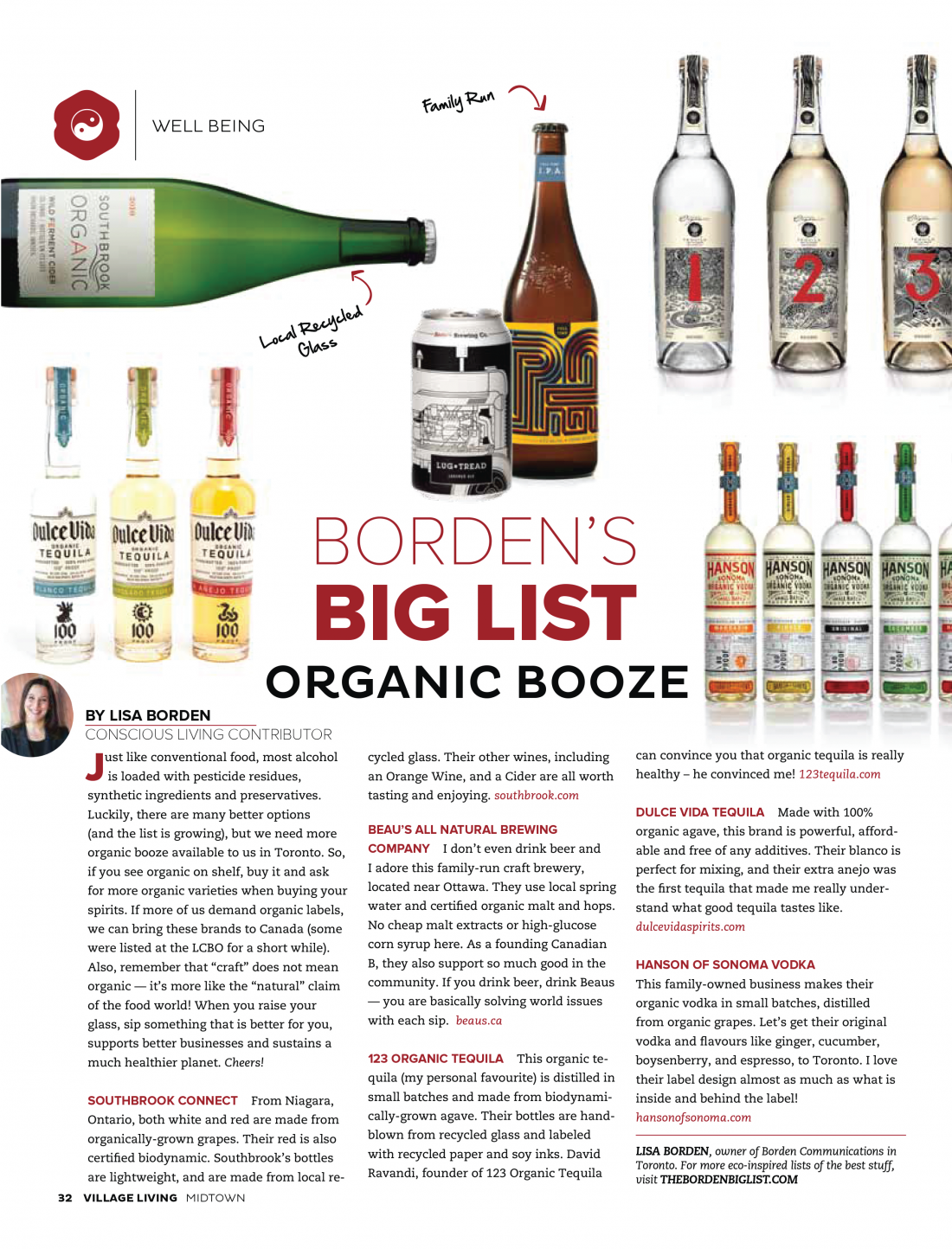 Organic Booze, Village Living Magazine