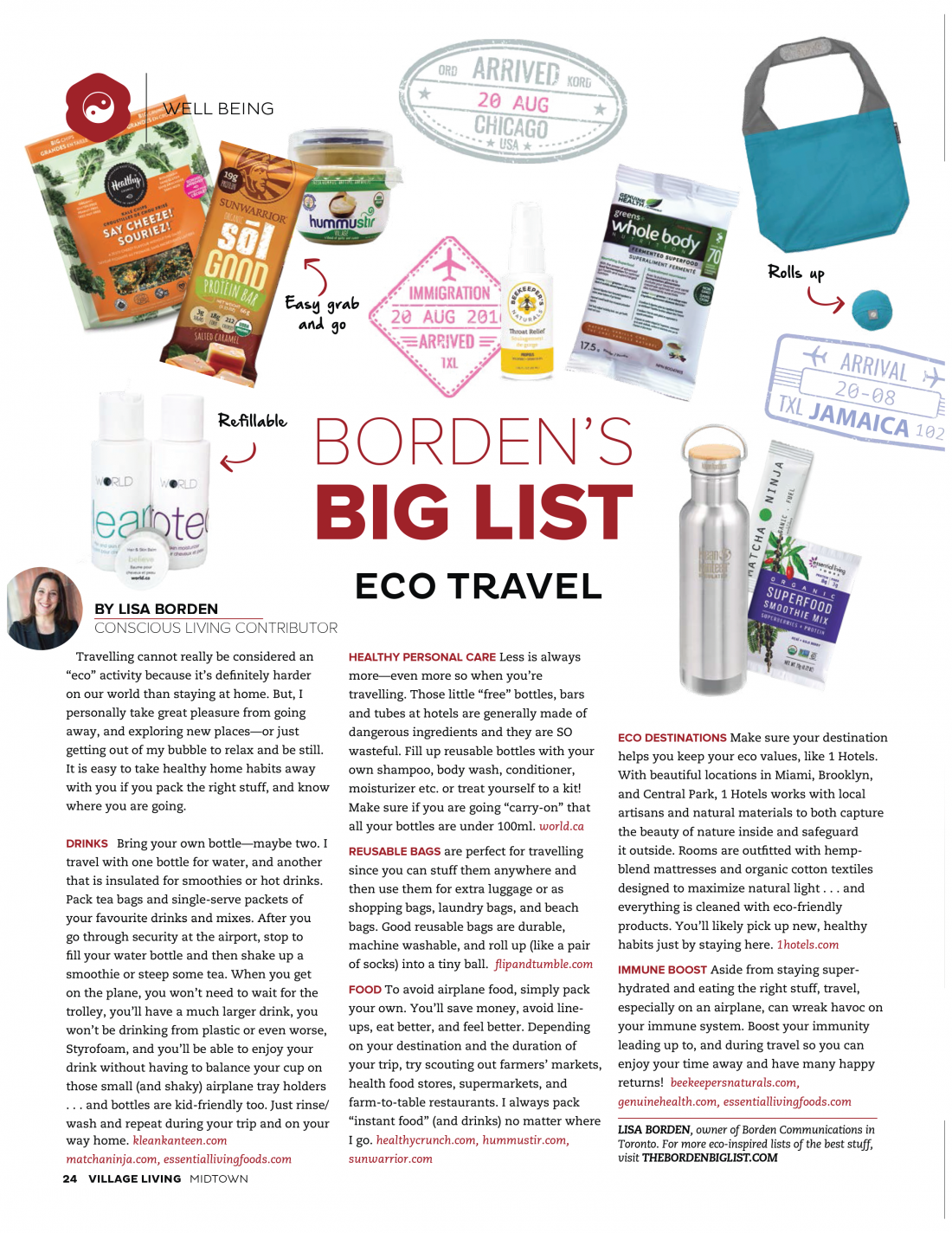 Eco Travel, Village Living Magazine