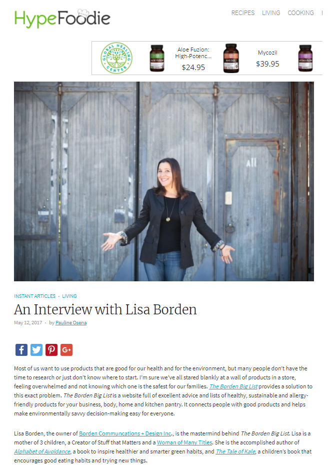An Interview with Lisa Borden, Hyper Foodie