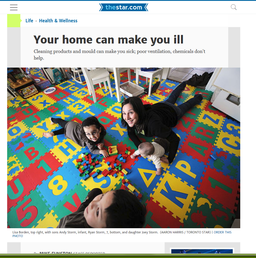Your home can make you ill, Toronto Star