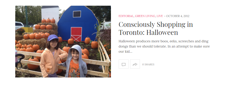 Consciously Shopping in Toronto: Halloween